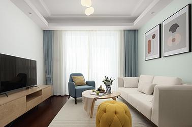 北欧-万科翡翠花园-三室两厅-90平米