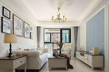 现代美式-江山汇悦山府-96平米-三室两厅