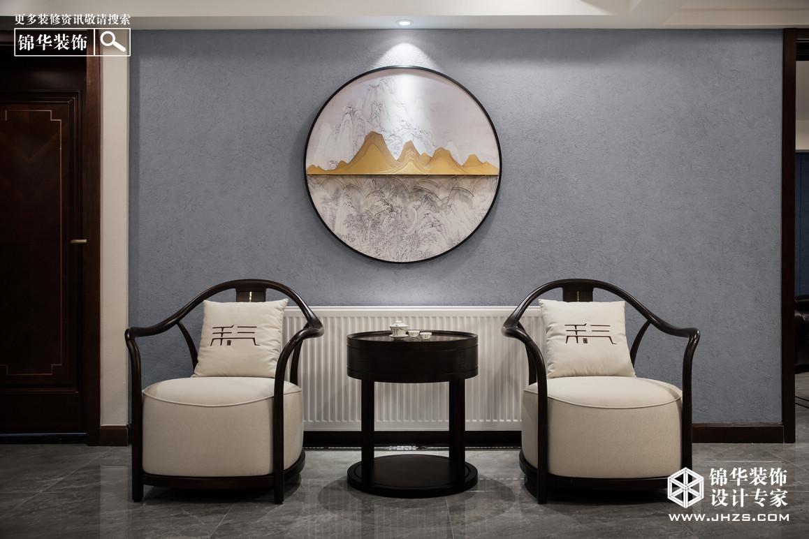 新中式-五矿·晏山居-406㎡装修-跃层复式-新中式