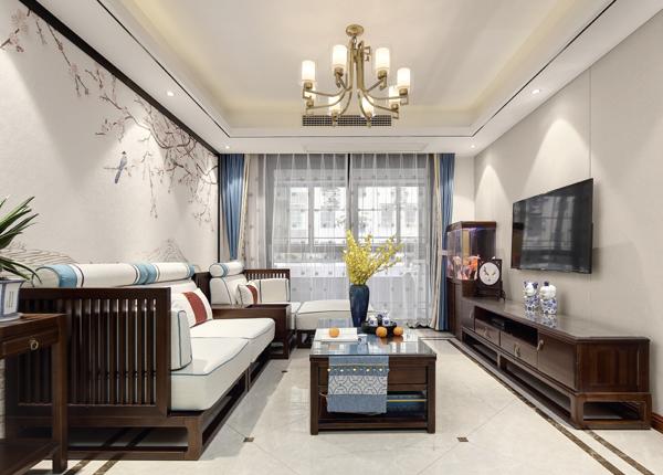 新中式-爱达花园紫藤苑-两室两厅-90㎡