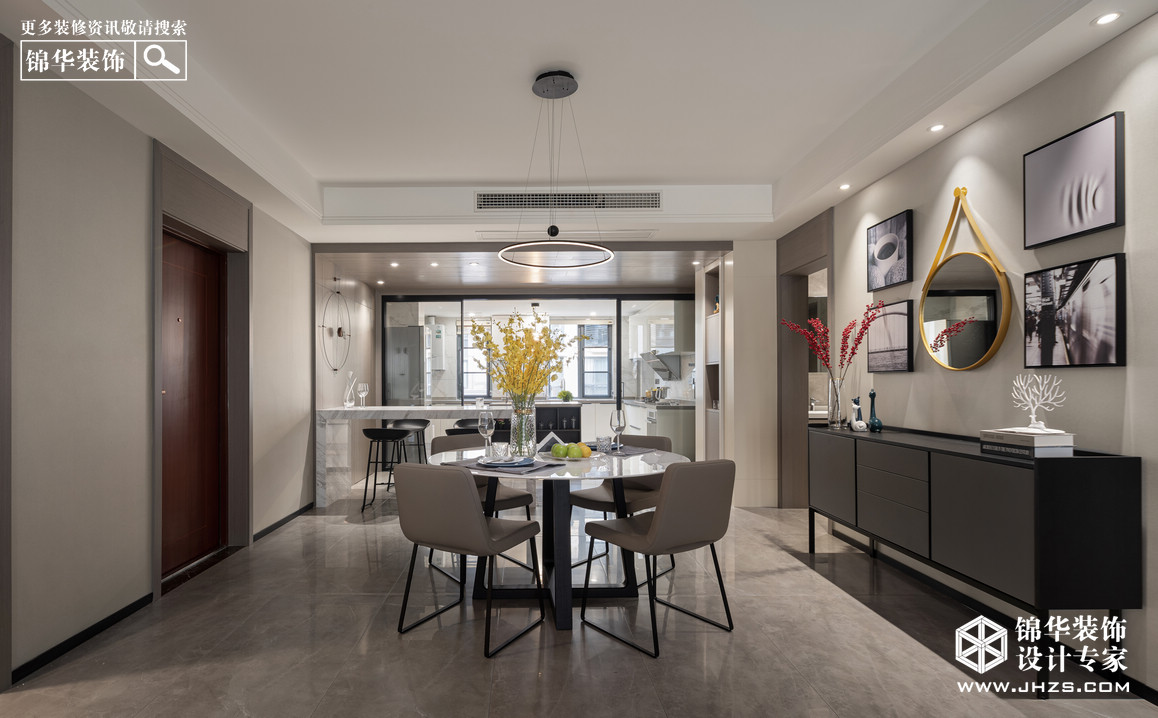 現代簡約-景楓法蘭谷-四室兩廳-180㎡裝修-三室兩廳-現代簡約