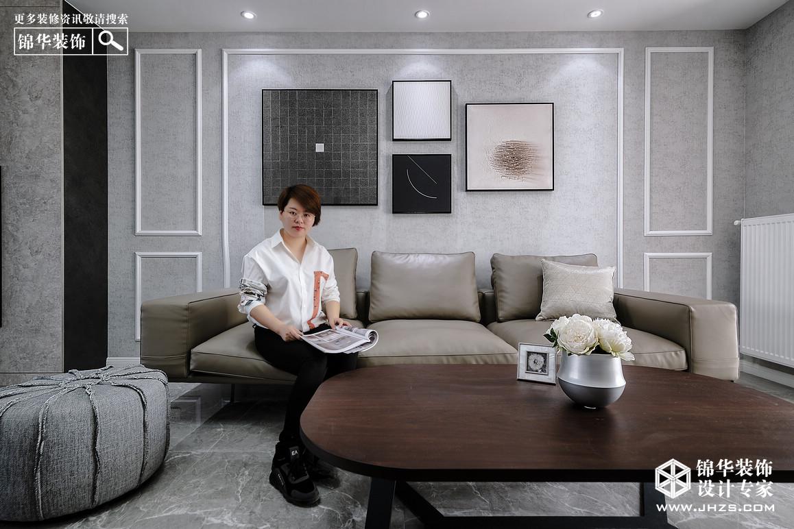 现代简约-中电颐和府邸-三室两厅-127㎡装修-三室两厅-现代简约