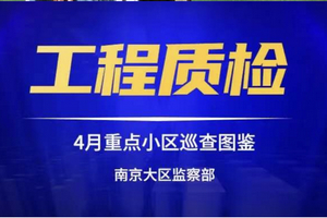 4月質檢跟蹤 | 南京大區重點小區巡查圖鑒