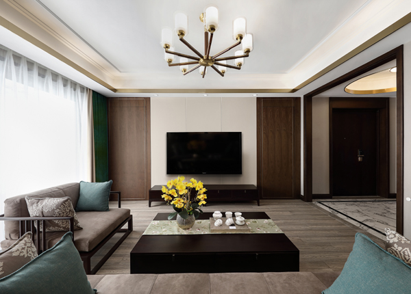 新中式-锦绣华府-三室两厅-140㎡