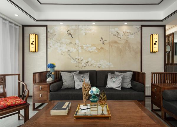 新中式-月安花园-三室两厅-124㎡