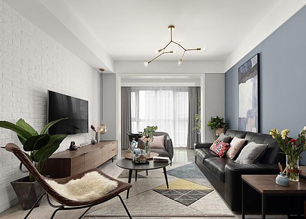 现代风格-中铁青秀城-三室两厅-123㎡