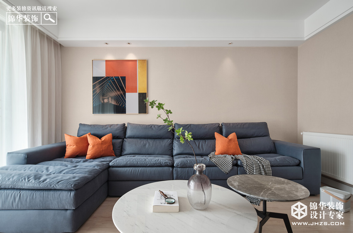 现代简约-金陵尚府-三室两厅-128㎡装修-三室两厅-简美