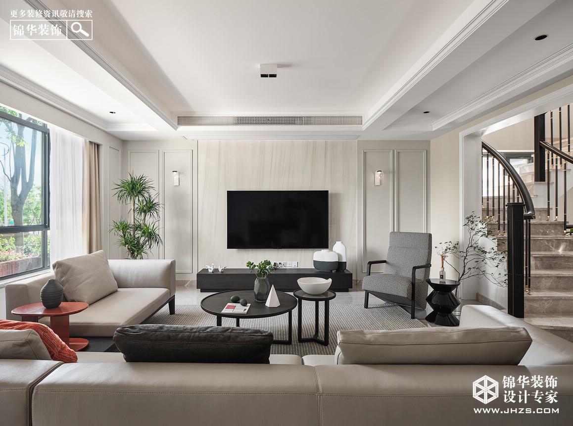 意式简约-龙庭水岸-别墅-240㎡装修-跃层复式-现代简约