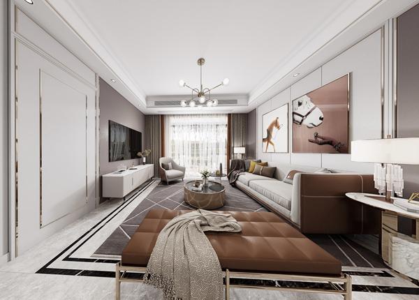 【元素】龙湖天街144平方米   现代轻奢风格