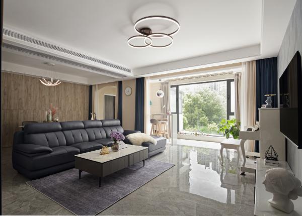 现代轻奢-威尼斯水城-三室两厅-150㎡