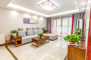新中式-鑫园凯旋城-三室两厅-130㎡