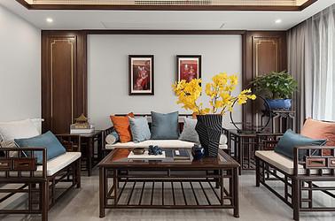 新中式-東城水岸-三室兩廳-140㎡