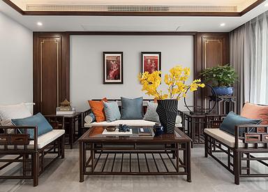 新中式-东城水岸-三室两厅-140㎡