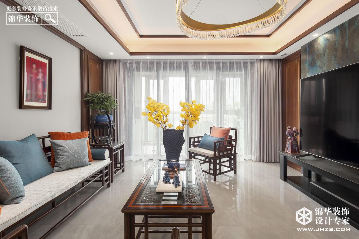 新中式-東城水岸-三室兩廳-140㎡裝修-三室兩廳-新中式