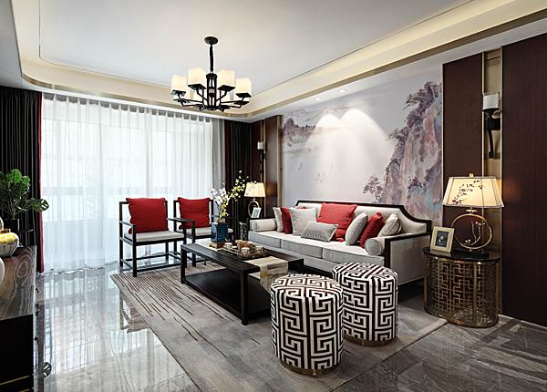 新中式-金盛田錦上-四室兩廳-130㎡