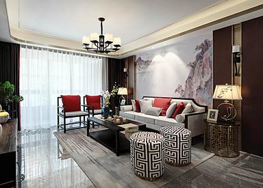 新中式-金盛田锦上-四室两厅-130㎡