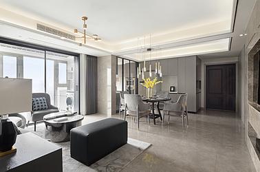 現代輕奢-西堤國際-三室兩廳-130㎡