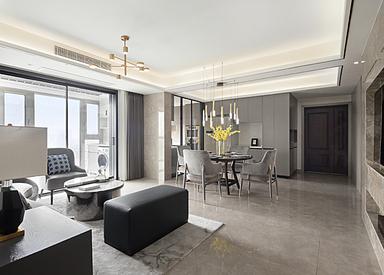 现代轻奢-西堤国际-三室两厅-130㎡