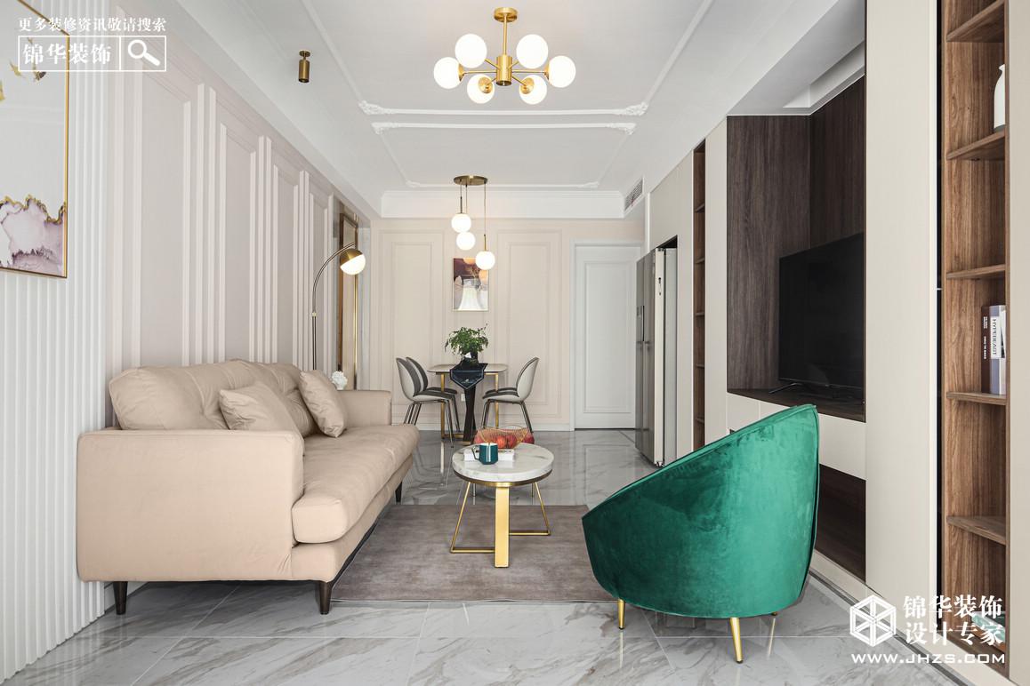 混搭轻奢-大华锦绣时代-两室两厅-89㎡装修-两室两厅-混搭