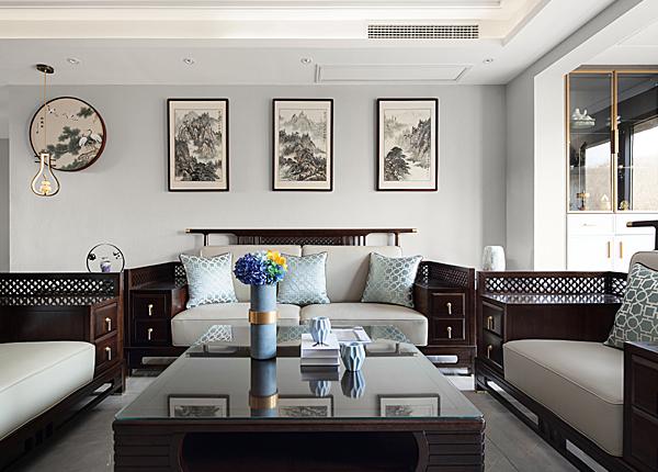 新中式-江雁德水香林-三室两厅