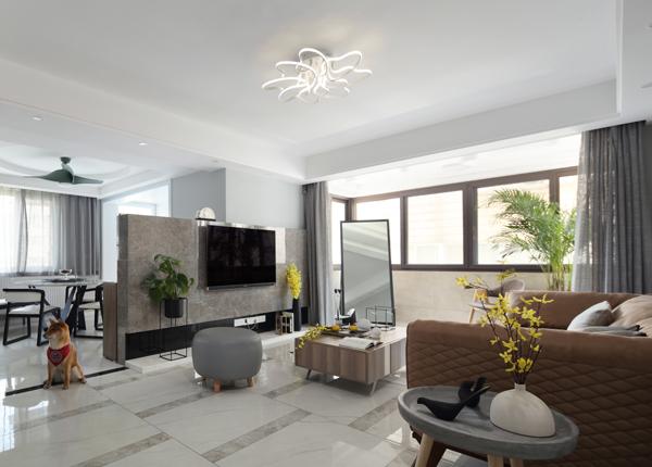 現代簡約-黃埔花園-三室兩廳-120㎡
