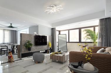现代简约-黄埔花园-三室两厅-120㎡
