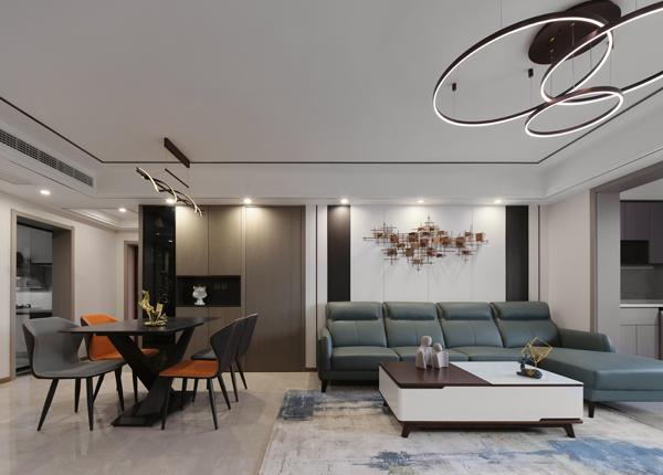 现代轻奢-蓝海雅苑-三室两厅-123㎡
