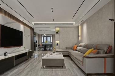 现代轻奢-宏图上水庭院-三室两厅-140㎡