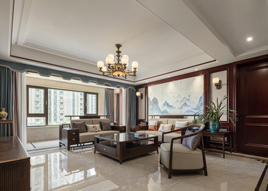 新中式-文成楠苑-四室两厅-170㎡