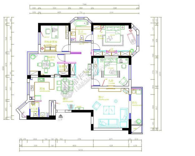 兆丰嘉园装修-三室两厅-现代简约