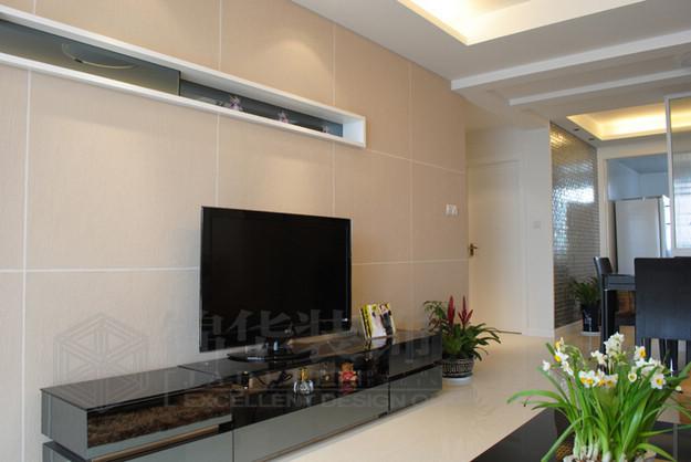 东晖花园 100平方米装修-两室一厅装修效果图-现代