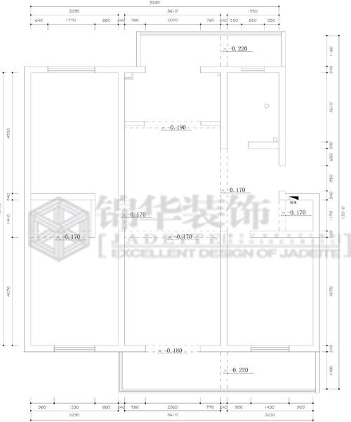 永兴花苑装修-三室两厅-现代简约