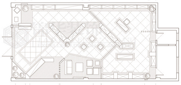 卓越酒行装修-三室两厅-现代简约