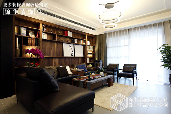 华强城150平新中式风格实景图
