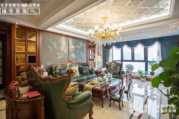 德诚·翠湖湾220平美式风格实景图