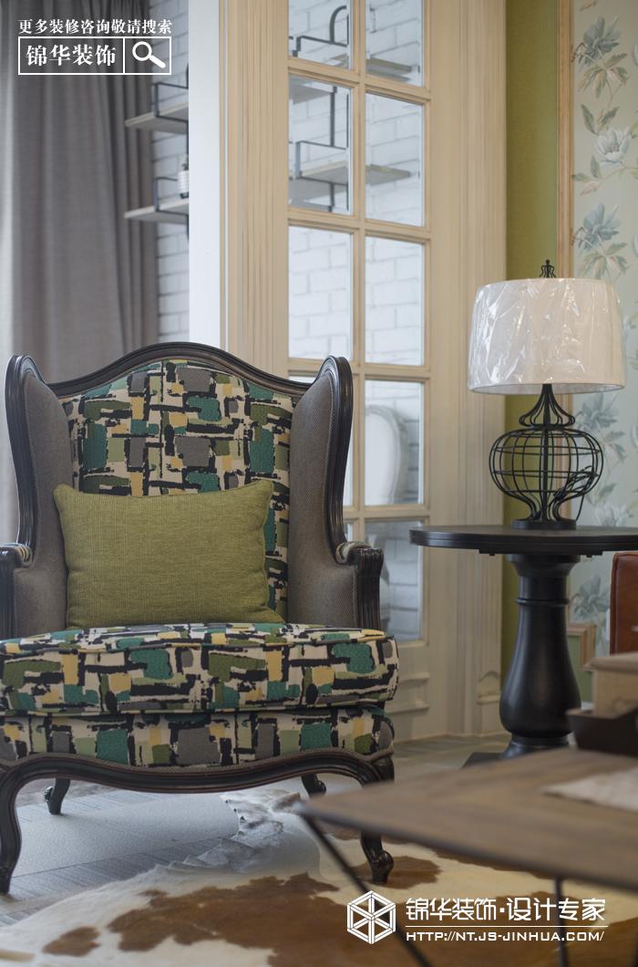 中南世纪花城130平美式风格实景图装修-三室两厅-美式田园