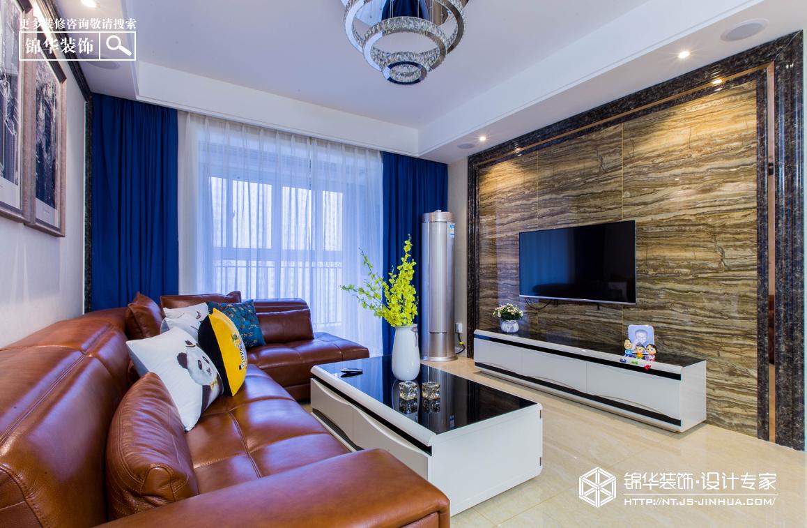 华润悦景湾98平全案设计现代简约风格实景图