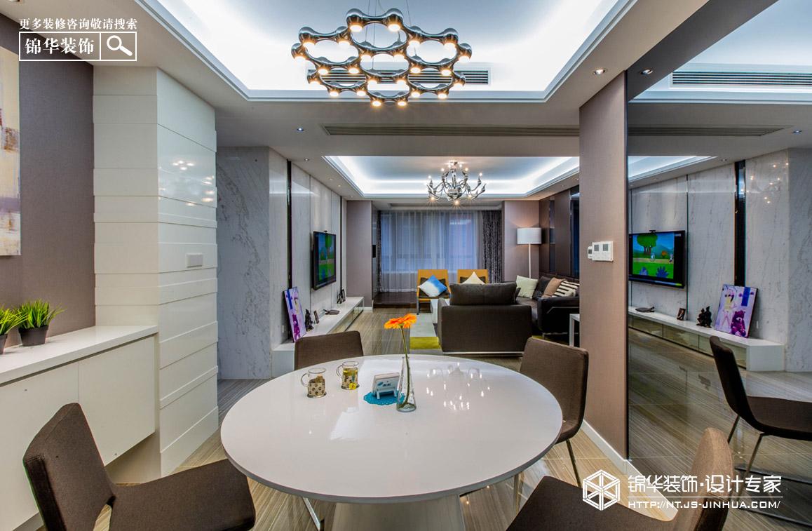 星光耀160平现代简约风格实景图装修-两室两厅-现代简约