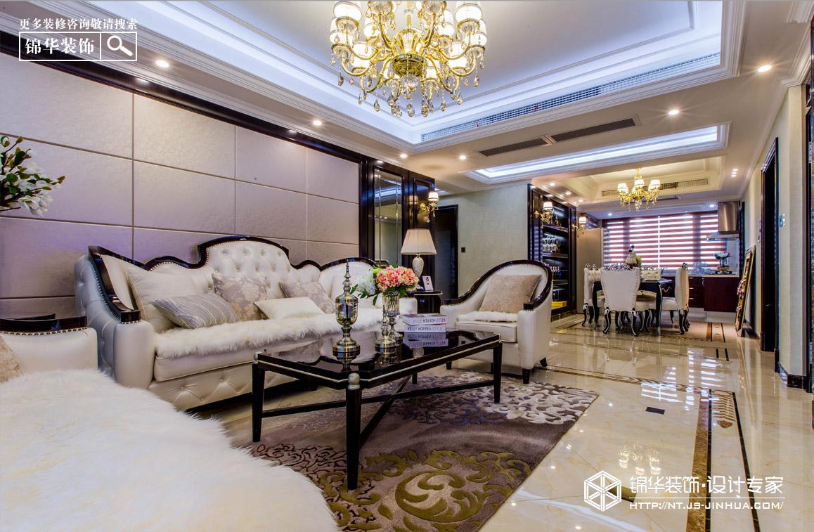 中港城142平新古典风格实景图装修-三室两厅-简欧