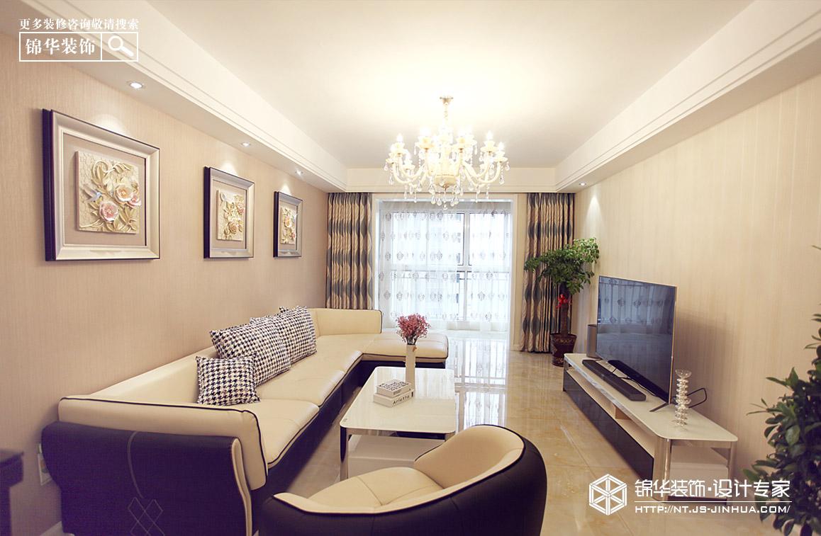 中海碧林湾125平全案设计现代简约风格实景图