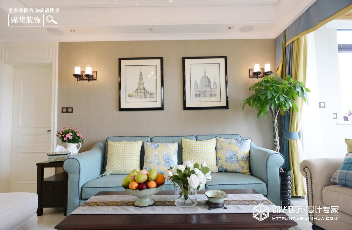德诚翠湖湾134平美式风格实景图装修-两室两厅-美式