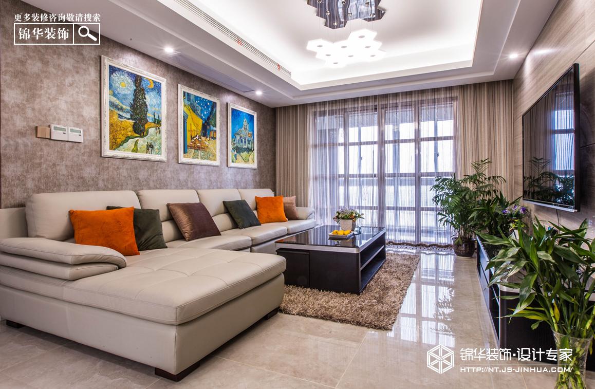 大唐金城(通州)140平现代简约风格实景图