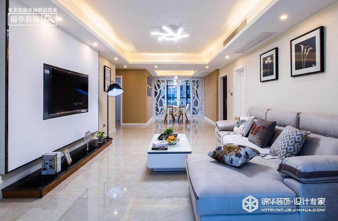 中港城140平现代简约风格实景图