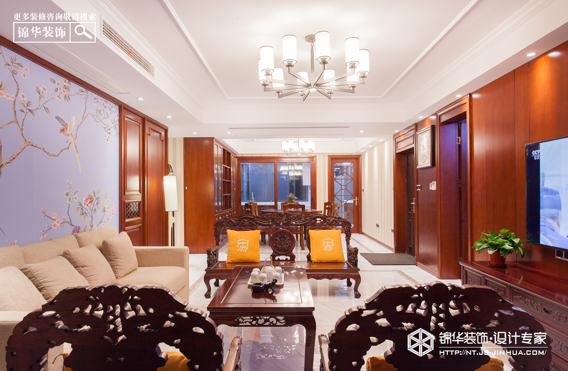 中港城188平新中式风格实景作品