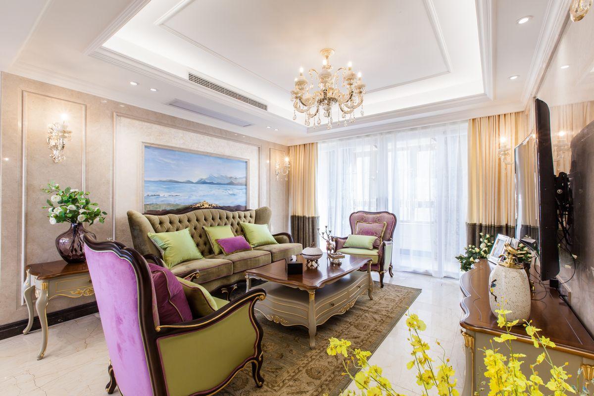 星光耀-2室2厅-欧式装修风格效果图