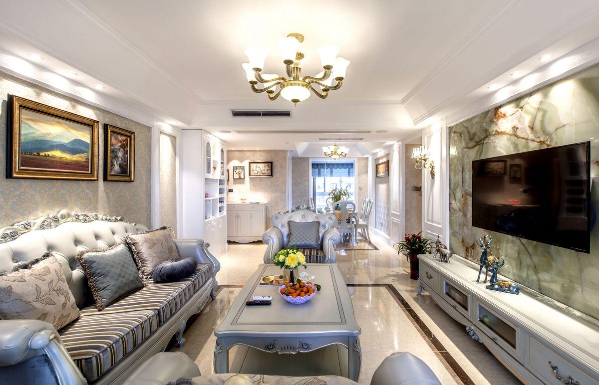 保利香槟国际-三室两厅-欧式装修效果图