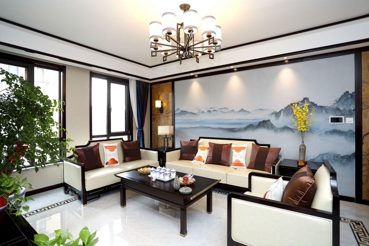 金水湾—140平—新中式风格实景图