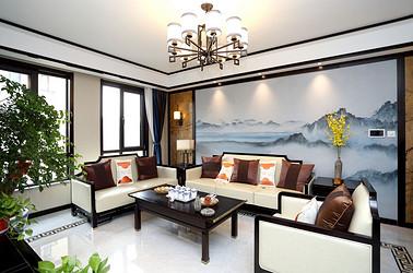 新中式 金水湾 三室两厅 140平米