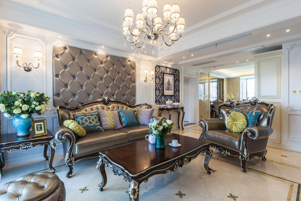绿城玉兰公寓—130平—欧式风格实景图