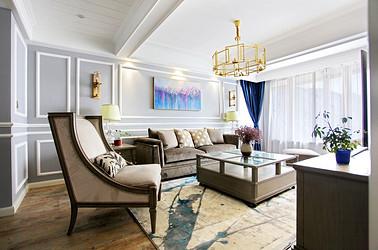 美式风格 苏中尚城 三室两厅 140平米